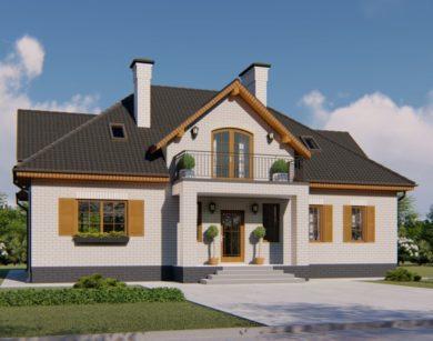 Проект дома с мансардой, 209,92м2