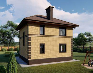 Проект двухэтажного дома, 102,30 м2