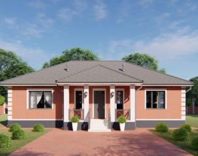 Проект одноэтажного дома, 123,01м2