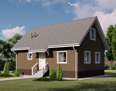 Проект дома с мансардой, 92,16м2