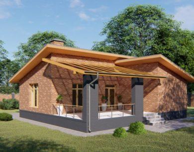 Проект одноэтажного дома, 87,29м2
