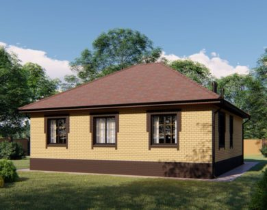 Проект одноэтажного дома, 107,49м2