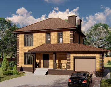 Проект двухэтажного дома, 202,57м2