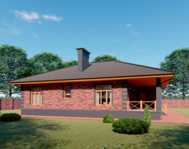 Проект одноэтажного дома, 124,90м2
