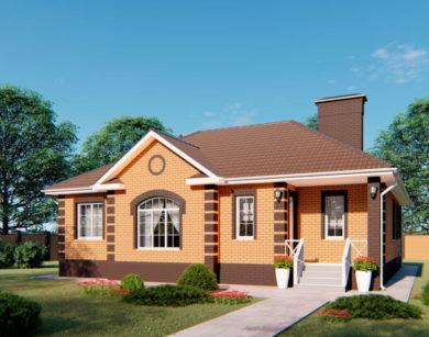 Проект одноэтажного дома, 118,59м2