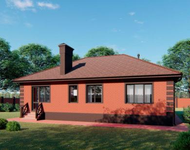 Проект одноэтажного дома, 135,25м2