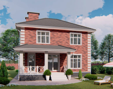 Проект двухэтажного дома, 163,81м2