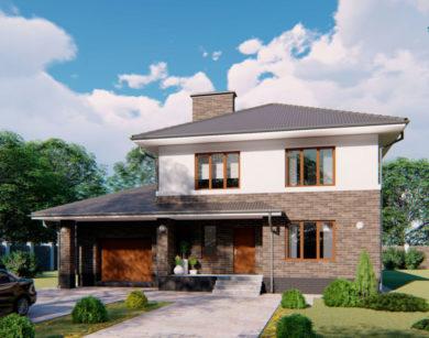 Проект двухэтажного дома, 197,28м2