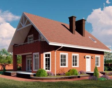 Проект дома с мансардой, 174,13м2