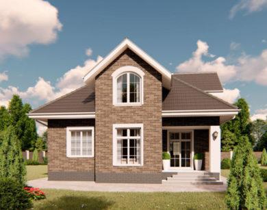 Проект дома с мансардой, 160,22м2