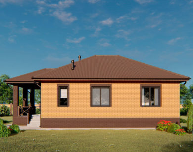 Проект одноэтажного дома, 86,74 м2