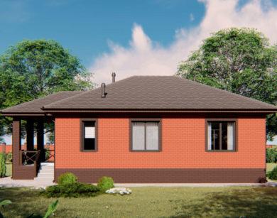 Проект одноэтажного дома, 89,53 м2