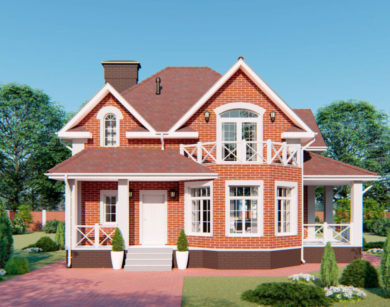 Проект дома с мансардой, 144,12м2