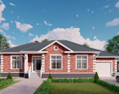 Проект одноэтажного дома, 150,94м2
