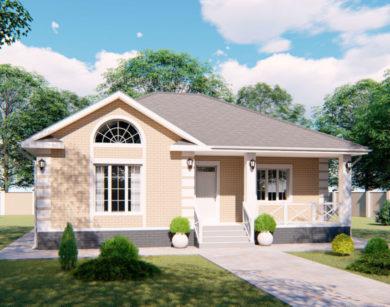 Проект одноэтажного дома, 112,85м2