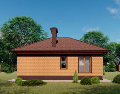 Проект одноэтажного дома, 64,08 м2