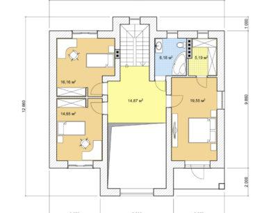 Проект двухэтажного дома, 179,39м2