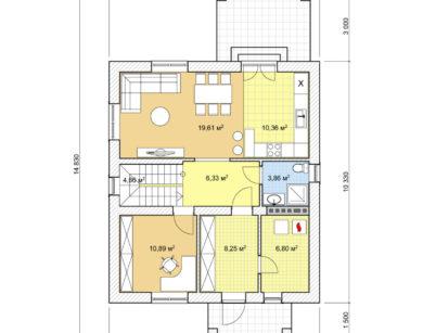 Проект дома с мансардой, 138,39м2