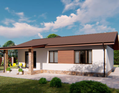 Проект одноэтажного дома, 88,76 м2