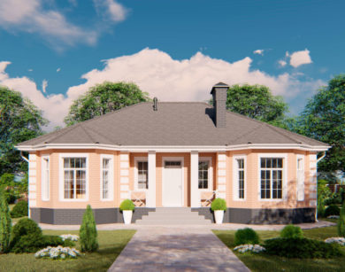 Проект одноэтажного дома, 130,97м2