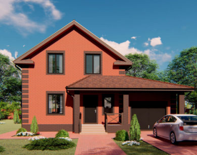 Проект дома с мансардой, 140,82м2
