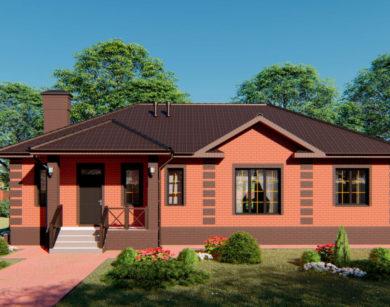 Проект одноэтажного дома, 132,20м2