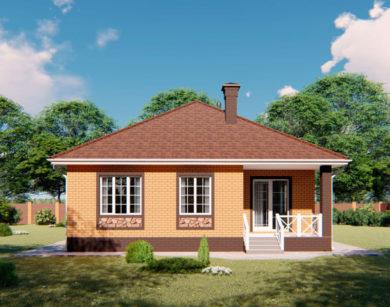 Проект одноэтажного дома, 97,96 м2
