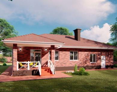 Проект одноэтажного дома, 128,05м2