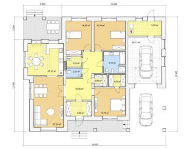 Проект одноэтажного дома, 177,90м2