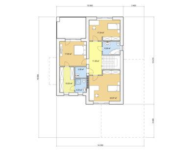 Проект двухэтажного дома, 243,02м2