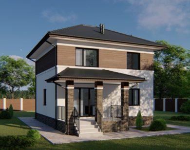 Проект двухэтажного дома, 114,62м2