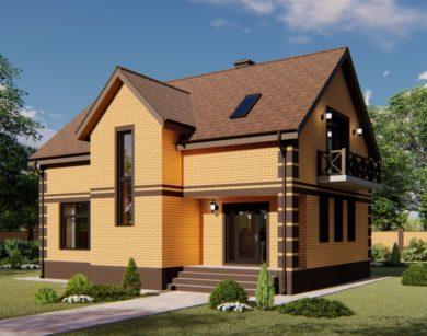 Проект дома с мансардой, 158,79м2