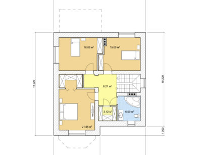 Проект дома с мансардой, 152,30м2